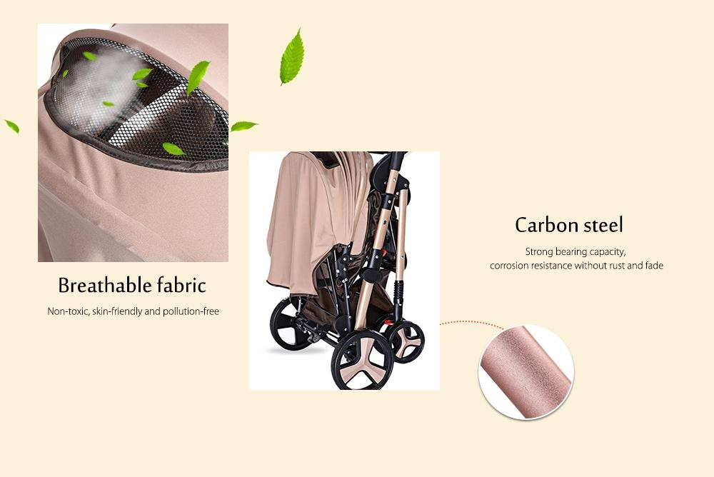 MoonSater YA - 2305 Multifunctional Stroller Baby Cart with Brake System Universal Casters