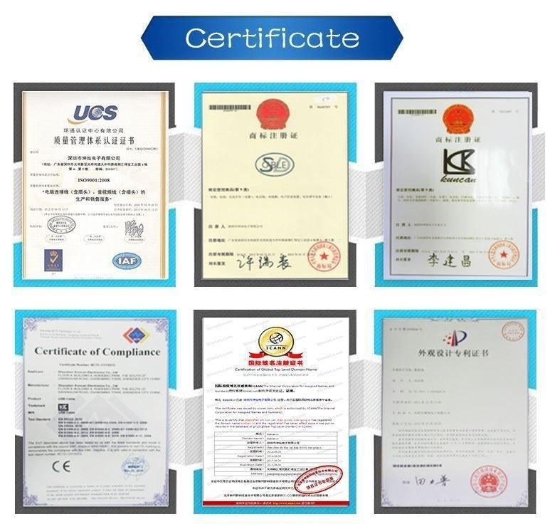 car jump cable factory certificate