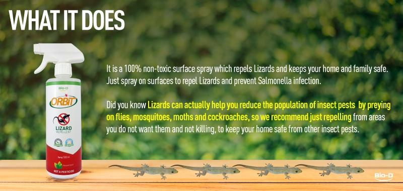 Bio-D Orbit Lizard Repellent Spray 500ml (Natural)