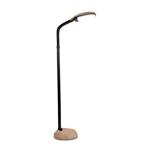 Brightech Litespan Led Reading And Craft Floor Lamp Dimmable Full Spectrum Natural Daylight Sunlight Standing Light With Gooseneck For Living Room