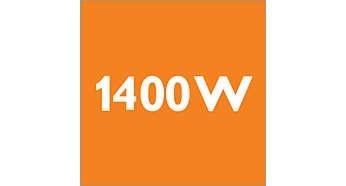 1400 Watt motor generating high suction power