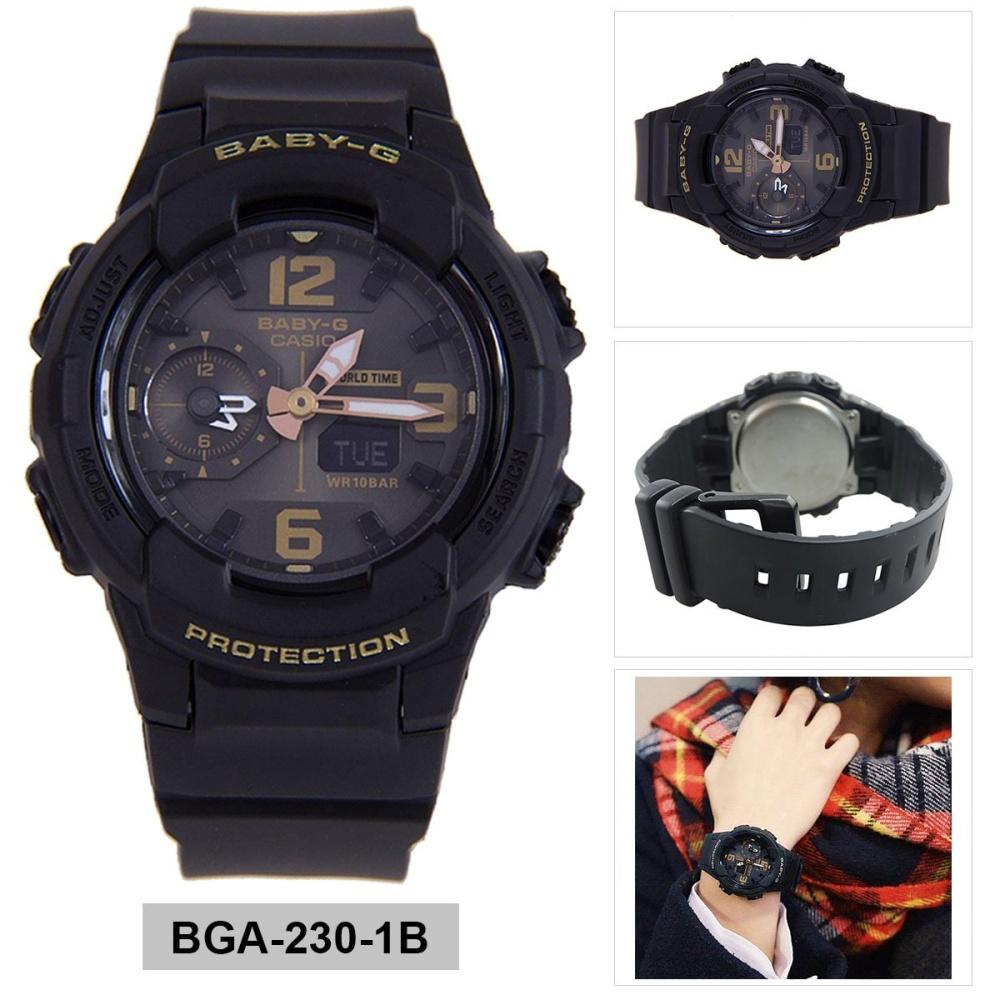 Casio Watch Baby G Black Rubber Case Strap Ladies Nwt Bga 230 7b Original Usa Source Warranty 1b