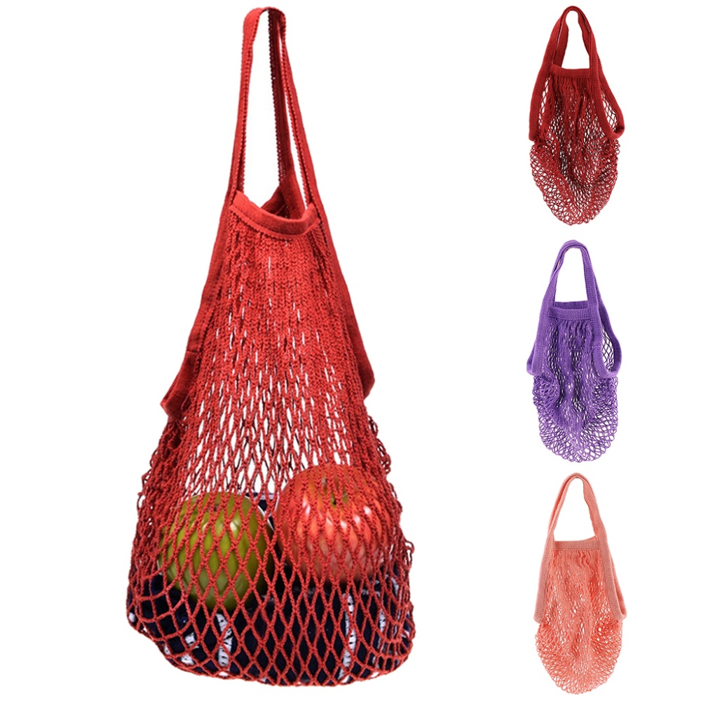 Product details of MagiDeal Reusable Mesh Cotton Net String Organizer Tote  Shopping Handbag Wine Red \u2013 intl