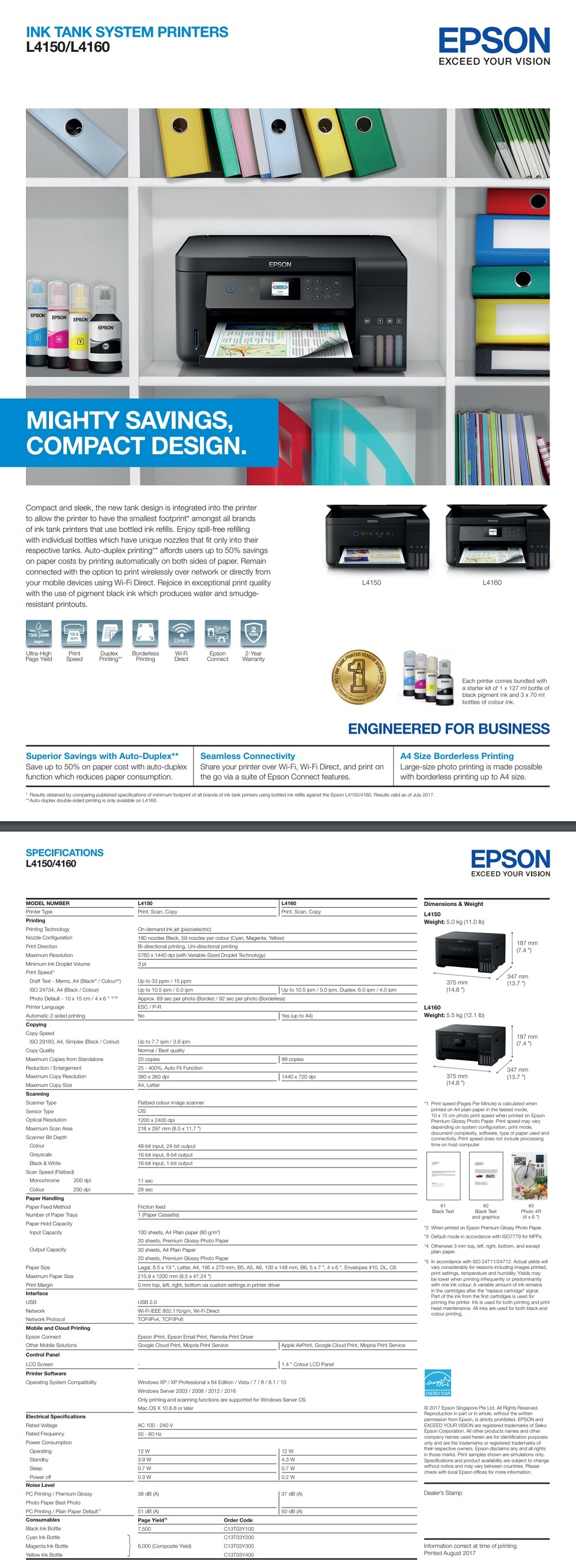 Epson L4150 Wi-Fi All-in-One Ink Tank Printer Singapore
