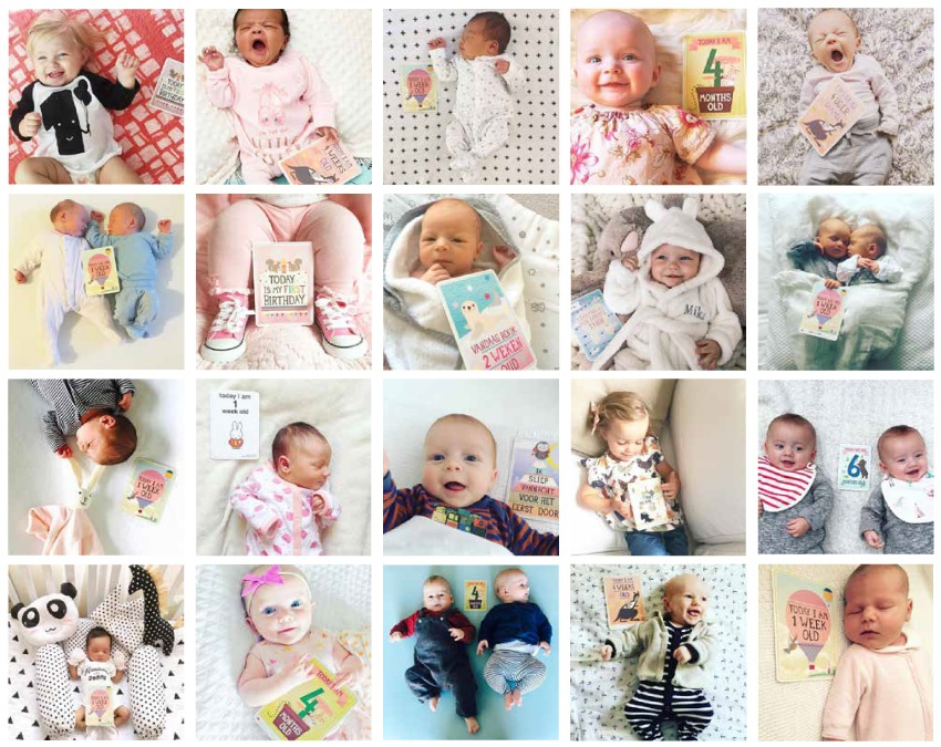 Milestone Baby Photos