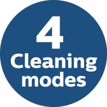 4 modes for cleaning different sections