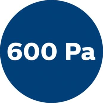 High power and suction power (600 Pa)