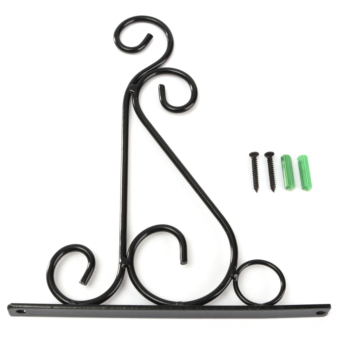 Wall Hooks For Hanging Lights : Iron Garden Wall Light Hanging Flower Plant Pot Bracket Hook Shelf Stand Holder Black - Intl ...