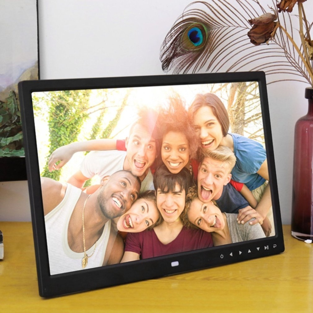 OH Digital Photo Frame 15 Inches Front Touch Buttons Multi-language ...
