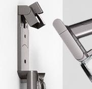 Dyson cordless and handheld docking station.