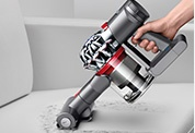 The Dyson V8 vacuum. Quickly convert to a handheld for quick clean ups, spot cleaning and cleaning difficult places.