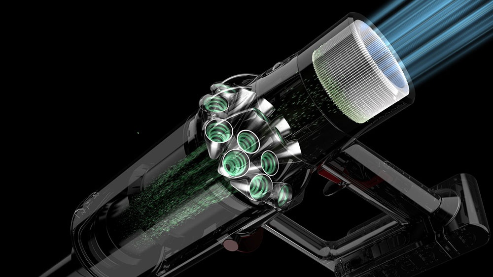 Advanced filtration. Captures 99.97% of particles as small as 0.3 microns.*