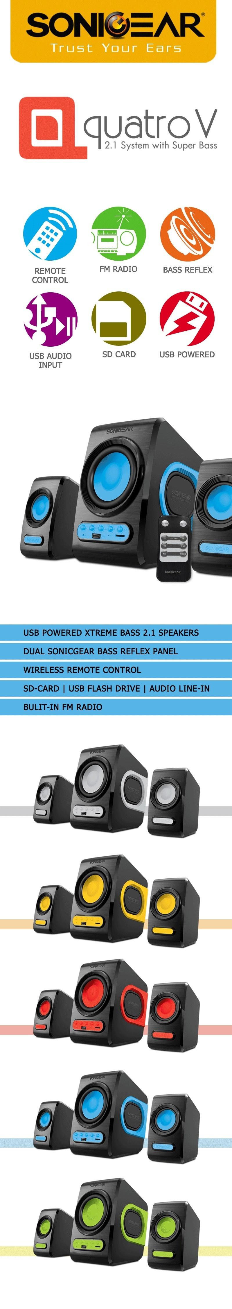 Sonic Gear Quatro V Speakers Singapore Evo 9 Btmi Bluetooth Memory Card Usb Radio Fm Specifications Of