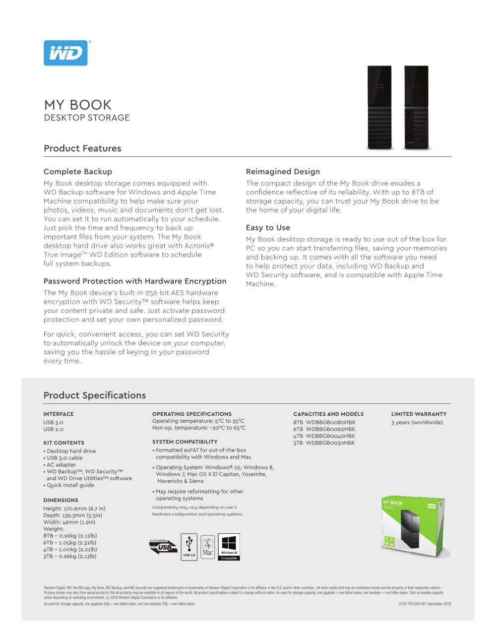Offers : WD My Book 6TB External USB3 0 Hard Drive / HDD (Desktop HDD)  Singapore