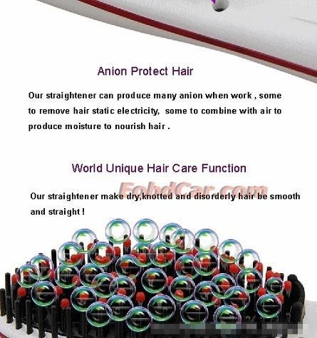 LCD Display Titanium Plates Flat Iron Straightening Irons Styling Tools Professional Hair Straightener Free Shipping SA87 (9)