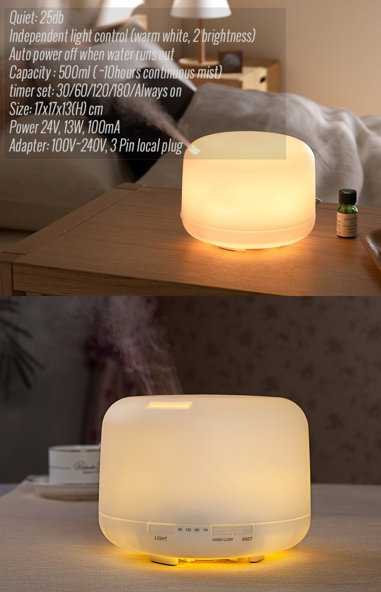 500ml muji style ultrasonic aroma diffuser lazada singapore. Black Bedroom Furniture Sets. Home Design Ideas