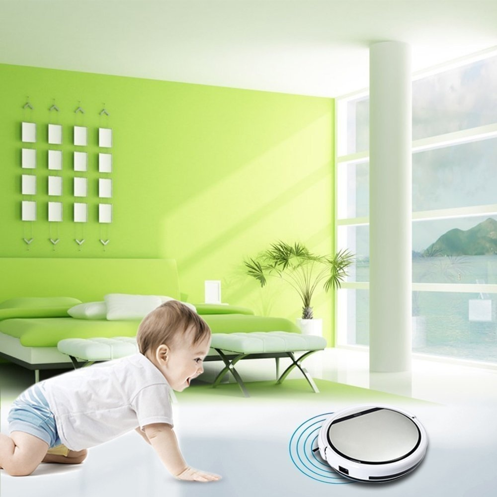 ilife Intelligent Robotic Vacuum Cleaner LCD Touch Screen Self-charge HEPA Filter Sensor Remote Control Robot Aspirador